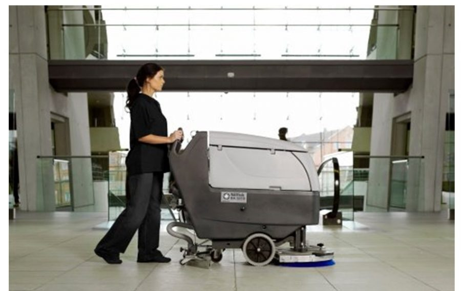 BA551 Industrial Pedestrian Scrubber-Dryer - In Action