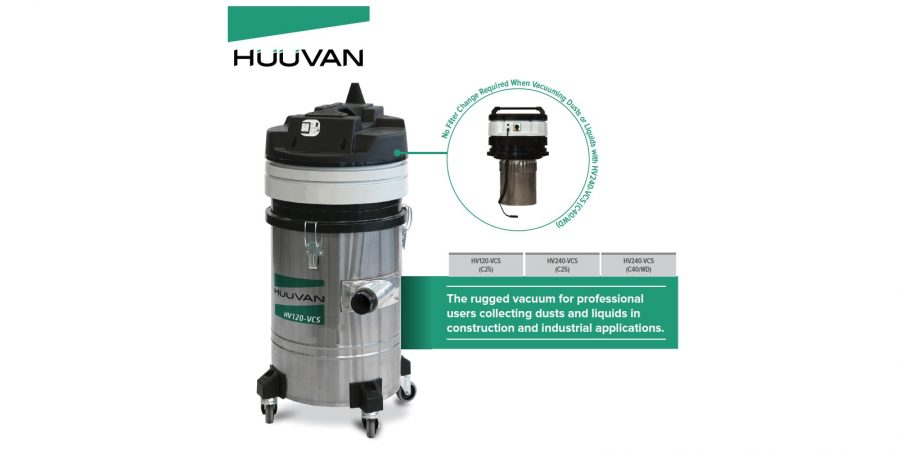 HUUVAN HV120-VCS (C25) Single Motor Industrial Vacuum Cleane