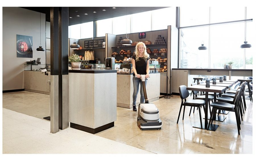 SC250 - Industrial Compact Scrubber Dryer - In Action