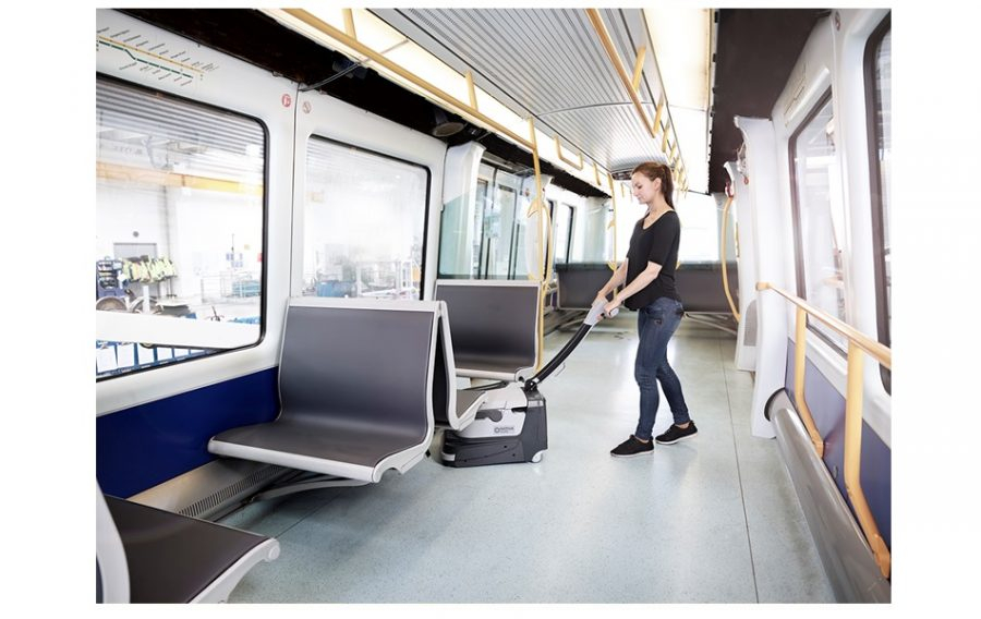 SC250 - Nilfisk Scrubber Dryer - 5 - cleaning on public transport