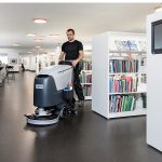 SC500 - Walk-Behind Nilfisk Scrubber Dryer - In Action