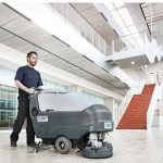 SC800 - Industrial Walk Behind Nilfisk Scrubber-Dryer - In Action