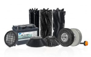 Spares & Consumables: Brushes, Batteries, Wheels & Beacons