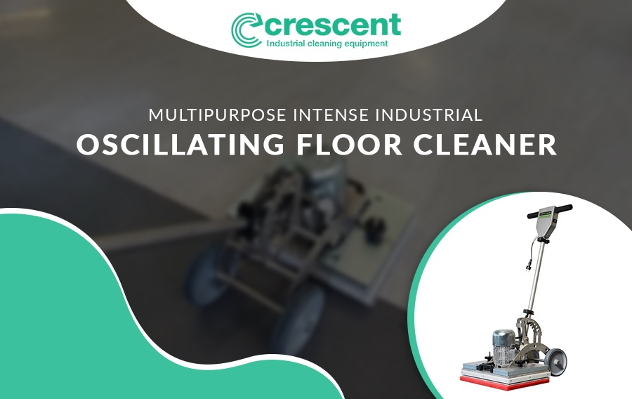 Chemical-Free Deep-Clean Oscillating Floor Scrubber
