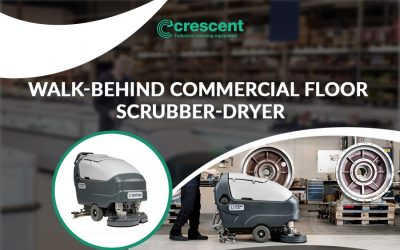 Walk Behind Floor Scrubber for Routine Cleaning & Maintenance