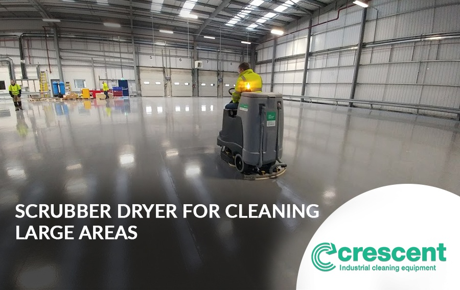 Ideal Combi-Action Scrubber Dryer for Cleaning Large Areas of Ingrained Dirt