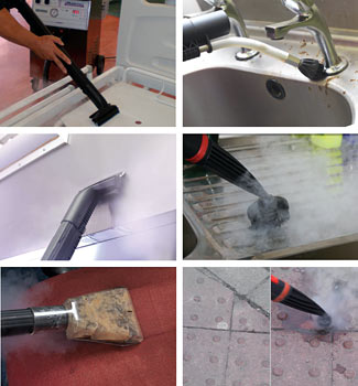 steam cleaning in commercial kitchens, fabrics, care homes
